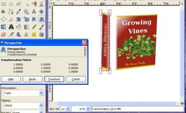 change ebook perspective gimp, skew ebook dimensions, make ebook 3d