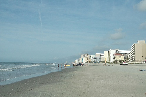 myrtle beach, south ocean boulevard, sandy shore, nursing vacation