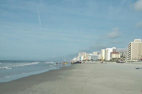 myrtle beach, south ocean boulevard, sandy shore, nursing vacation