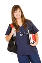 online nursing schools legit, online programs scams, nursing student, long hair