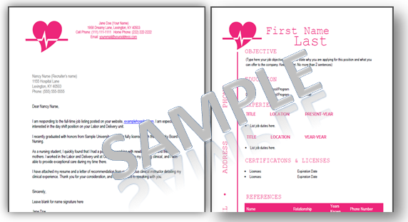 EKG nursing resume template