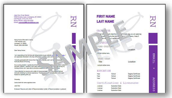 Nursing resume templates free resume templates for for Professional portfolio nursing template