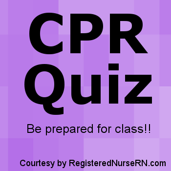 CPR Practice Quiz Questions