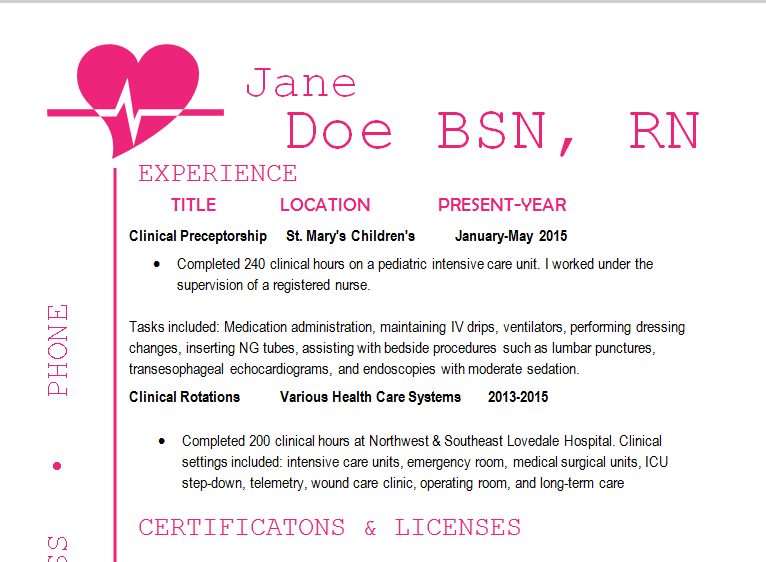 Best Registered Nurse Resume Example Livecareer Scrub Nurse  Nursing Resume Example