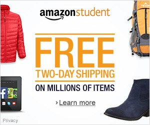 Amazon Student, free trial, free shipping