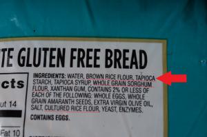 gluten free food, gf bread, celiac diet