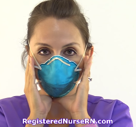 donning n95 mask, how to wear n95 mask, respirator, seal check