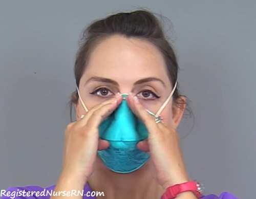 how to put on n95 mask, respirator, nursing, nurse