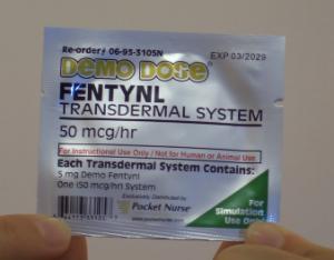 transdermal patch, applying, remove, fentanyl, nursing