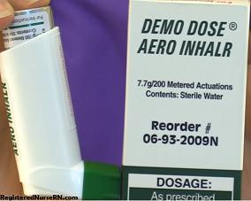 metered dose inhaler, broncodilator, corticosteroids, inhaler, nclex