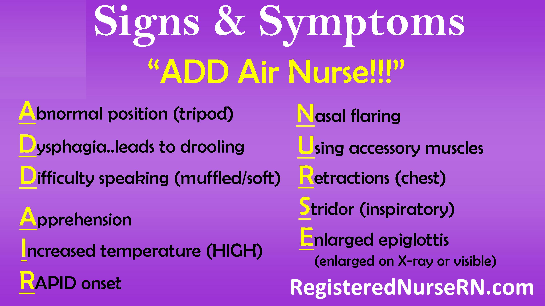 epiglottitis, nursing, nclex, symptoms