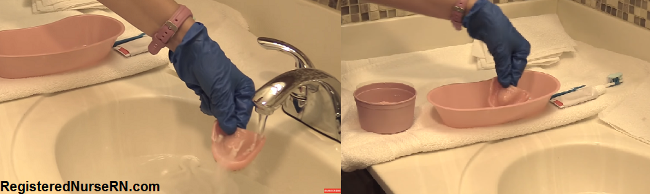 denture care, nursing , cna, how to clean dentures