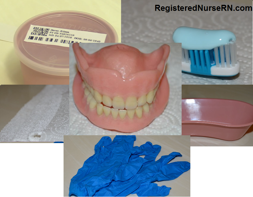 denture care, nursing, how to clean dentures