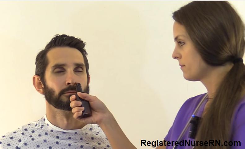 cranial nerve I, olfactory nerve, test, nursing