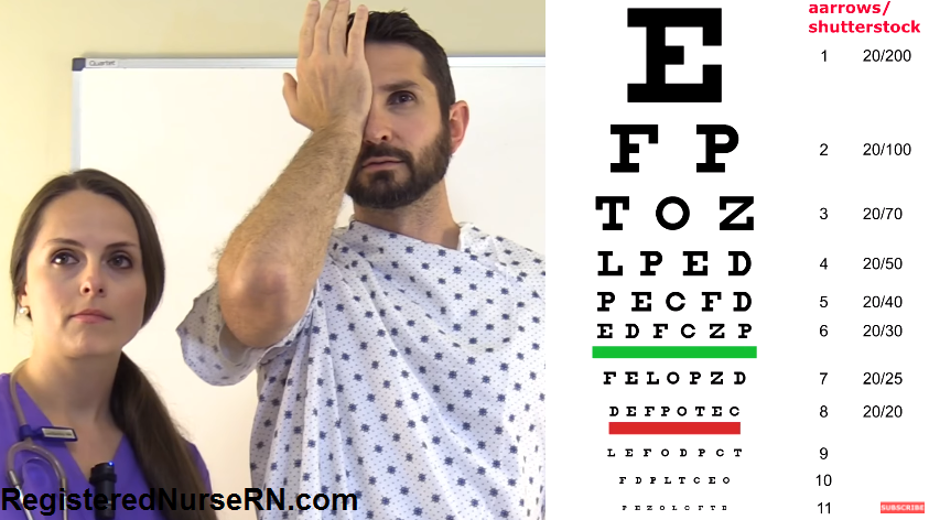 snellen chart, visual acuity, optic nerve, cranial nerve