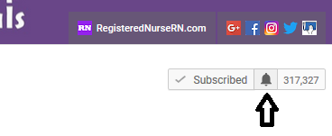 youtube bell notification, subscribe, nursing channel,