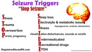 seizures, nclex, mnemonic, nursing