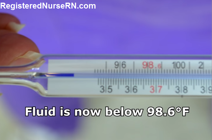 oral temperature, how to take a temperature, glass thermometer