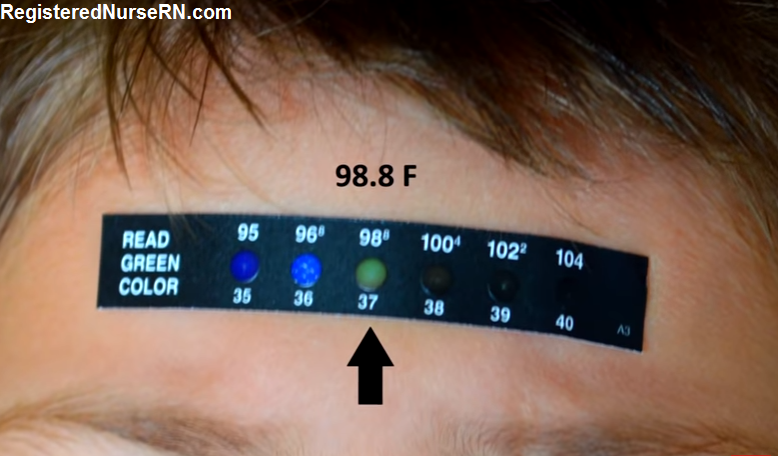 skin temperature, skin strips for temperature