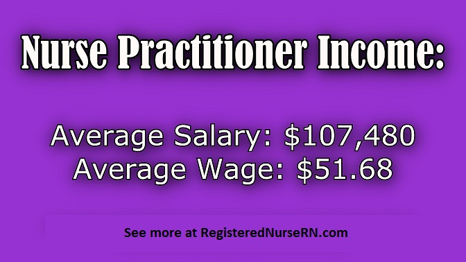 nurse practitioner salary, nursing practitioner income, np hourly wage