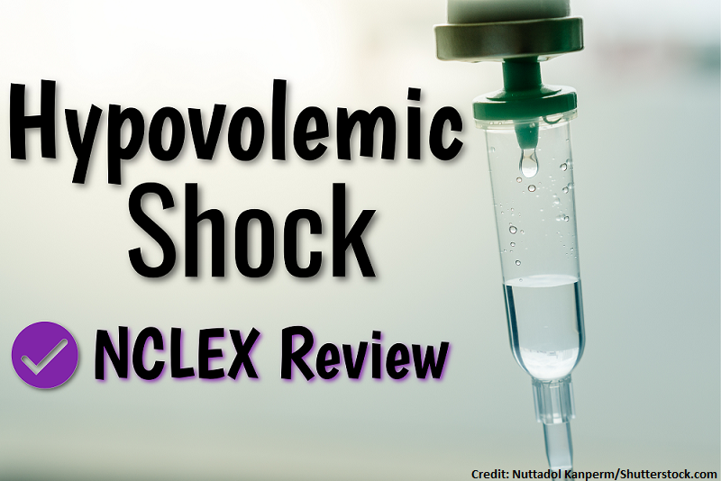 hypovolemic shock, nclex, question, nursing, shock types