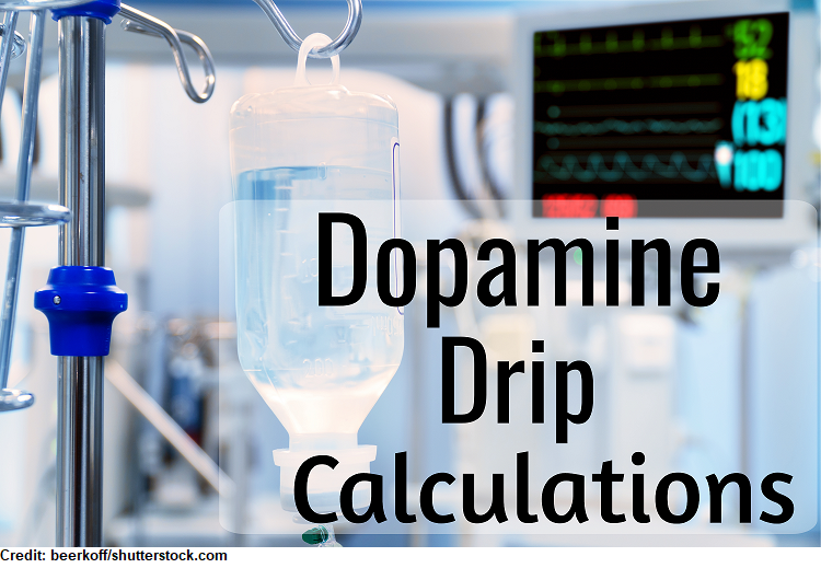 dopamine drip calculations, iv drip calculations, IV flow rate, mg/kg/min, practice