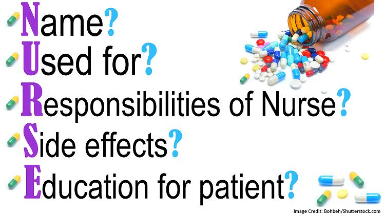 pharmacology mnemonics, nursing, nclex