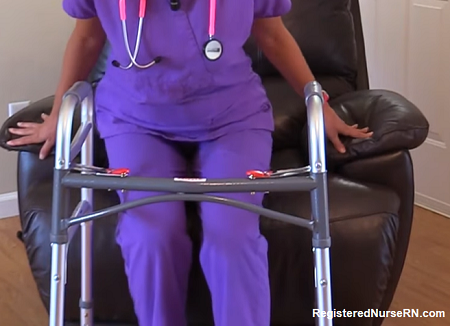 how to use a walker, nursing, nclex, hesi, ati, assisitive devices
