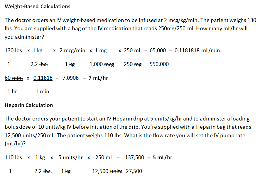 weight based, dosage calculation, heparin, dosage