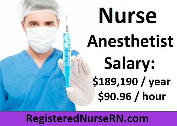 nurse anesthetist salary, crna salary, nurse anesthetist income, crna hourly wage