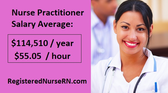 nurse practitioner income, nurse practitioner salary, np hourly wage