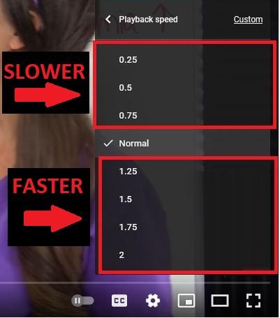 make youtube faster, video playback speed, adjust
